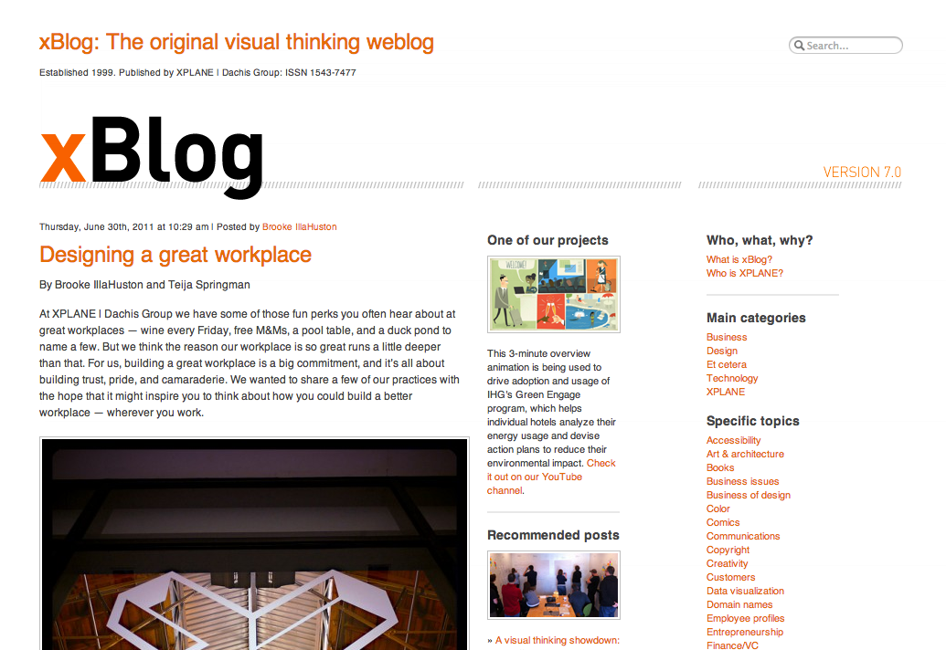 Presenting xBlog | The visual thinking weblog