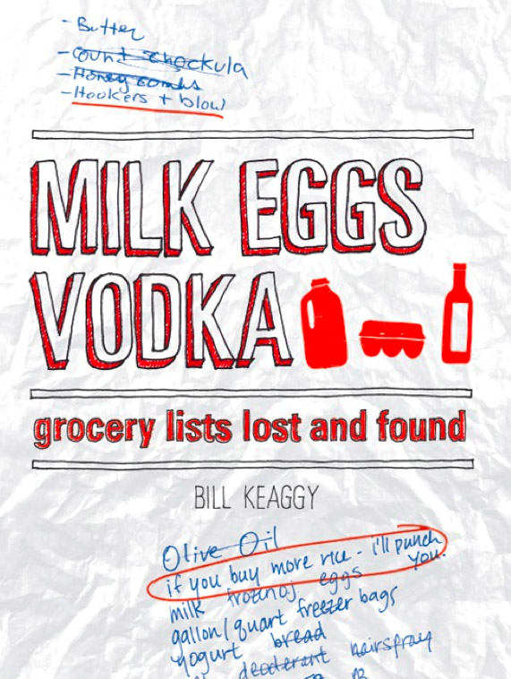 'Milk Eggs Vodka: Grocery Lists Lost and Found'