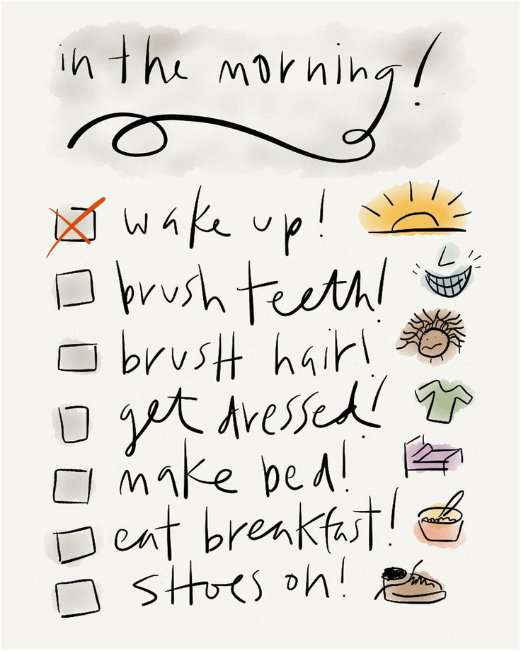 Morning to-do list for kids