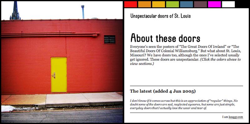 The unspectacular doors of Saint Louis