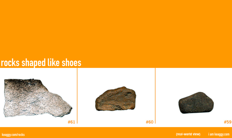 Rocks shaped like shoes