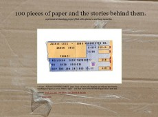 100 pieces of paper and the stories behind them