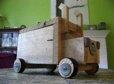 Toy wooden truck
