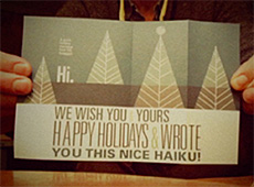 Holiday card, 2015
